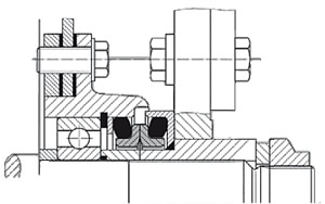 diagram of Seal for cutting shaft of crop harvester